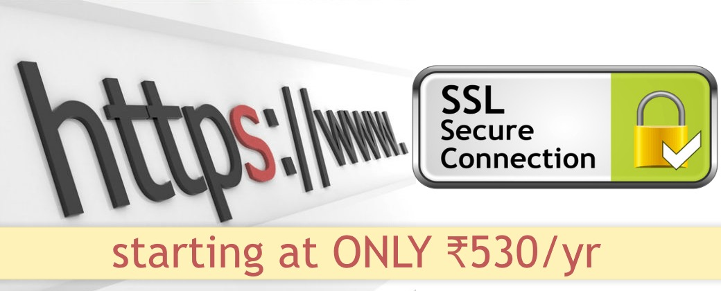 SSL certificates starting at only ₹530