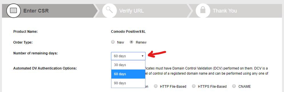 getssl certificate renewal extension