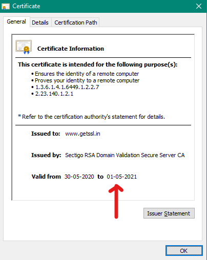 ssl certificate expiry date
