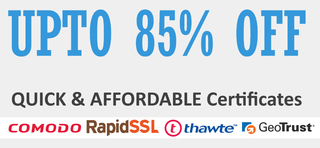 SSL certificates upto 85% off