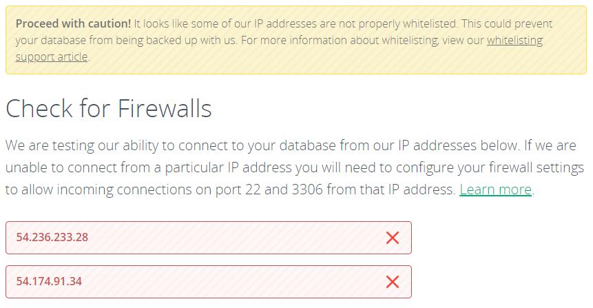 codeguard database check firewall