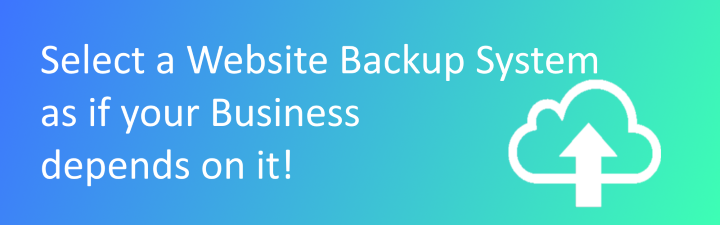 select website backup system header