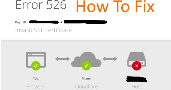 cloudflare error 526 how to fix